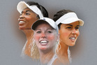 Venus Williams, Caroline Wozniacki, Ana Ivanovic. Illustration / Rod Emmerson