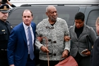 Bill Cosby looked all of his 78 years as he arrived at court to face charges laid by Andrea Constand (right), who had been involved in women's basketball at Temple University. Pictures / AP