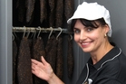 FINE DRY: Singita Fine Foods owner Claudia Armstrong with one of the specialised biltong dryers they use. PHOTO/FILE