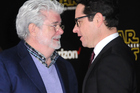 George Lucas and Star Wars: The Force Awakens director J.J. Abrams. Photo / Getty Images