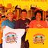 Merchandise sellers, from left, Robert Leau-Pepe, Maraea Herbert-Pickering, Frances Herbert, Kim Campbell and Kaharau Pickering.