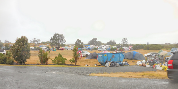 Uretiti campsite was filled with hundreds of holidaymakers, but by yesterday morning most had packed up and left. Photo / Shane Reti