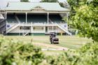 Eden Park ground staff prepare the Outer Oval pitch. Photo / Michael Craig