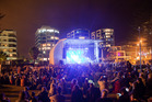 New Year's Eve partiers enjoy the music at Mount Maunganui. Photo/Andrew Warner