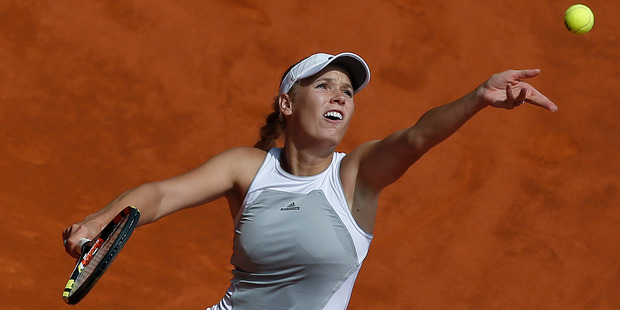 Caroline Wozniacki is considered one of the best players to not have a grand slam win. Photo / AP