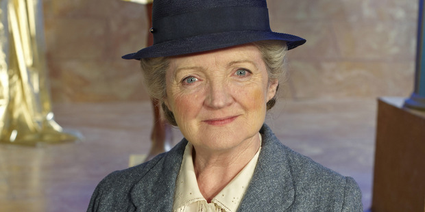 Julia McKenzie played a misleading version of spinster sleuth Miss Marple. Photo / Supplied
