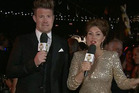 Presenters Eddie Perfect and Justine Clarke looked awkward. Photo / ABC