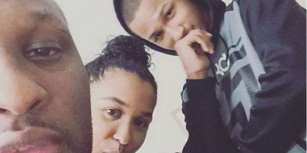 Lamar Odom with his children, Destiny and Lamar Jr. Photo / Instagram