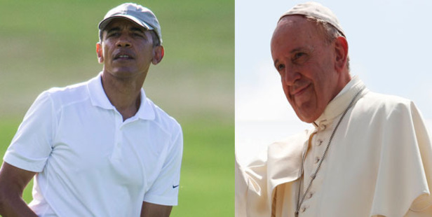 48.6% respondents chose Barack Obama, whereas Pope Francis got 18.7% of the votes. Photo / AP