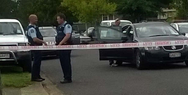 Police at the scene in Kawerau yesterday. PHOTO/KATEE SHANKS