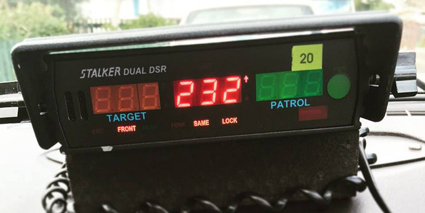 The motorcyclist sped away from police at 232km/h but was eventually caught. Photo / Facebook