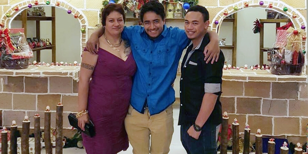 ON HOLIDAY: Trisha White with Ricardo (centre) and elder son Ethan. PHOTO/SUPPLIED