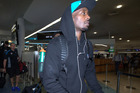 Cedric Jackson arrives at Auckland Airport to depart for Perth. Photo / Nick Reed
