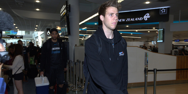 Tom Abercrombie arrives at Auckland Airport to depart for Perth. Photo / Nick Reed