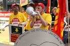 Unions have campaigned for a $15 hourly minimum since June 2009. Photo / NZPA