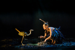 In the black shadows, not a string can be seen: fine woven mats and birds seem to dance by themselves. Photo / supplied