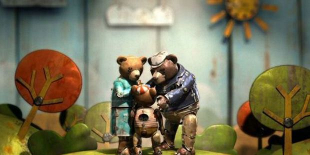 A scene from the movie, Bear Story.