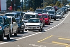 A recent photo taken of congestion on Te Ngae Rd after a minor traffic accident at the Tarawera Rd roundabout.