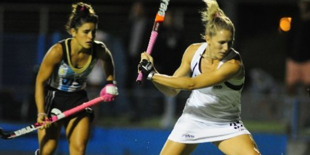 Stacey Michelsen in action against Argentina. Photo / File
