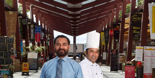 PACKED: Indian Star owner Ray Singh and head chef Manmohan have watched Eat Streat flourish. PHOTO/STEPHEN PARKER