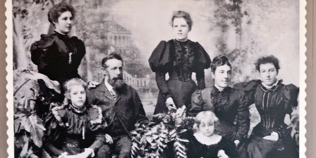 Tauranga's Brain family in the days when a photograph meant dressing up.