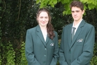 Totara College students Hannah Peters and Adam Brown.