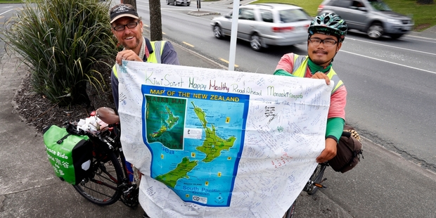 Paul Gourlie and Hidenori Koike want New Zealand road users to stop being racist and take a look at what really causes problems on the roads. Photo / John Stone