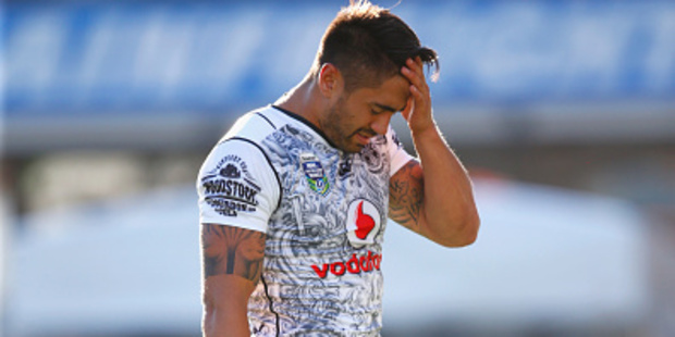 Shaun Johnson during the Warriors match against the Eels last month. Photo / Getty Images
