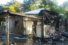 Firefighters managed to save half of a fisherman's shed at Kohukohu.