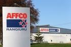 Affco NZ's plant in Rangiuru, south of Te Puke.