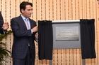 Tauranga MP Simon Bridges opens the brand new Trustpower building on Durham St. Photo / George Novak