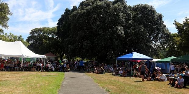 PACKED: Whanganui iwi celebrate the 21st anniversary of their occupation of Pakaitore/Moutoa Gardens.PHOTO/NATALIE SIXTUS