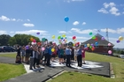 Guests and well-wishers released 60 balloons from Dargaville Hospital's helipad to celebrate the 60th.