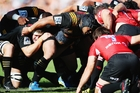 The Chiefs scrum struggled against the Lions yesterday. GETTY IMAGES