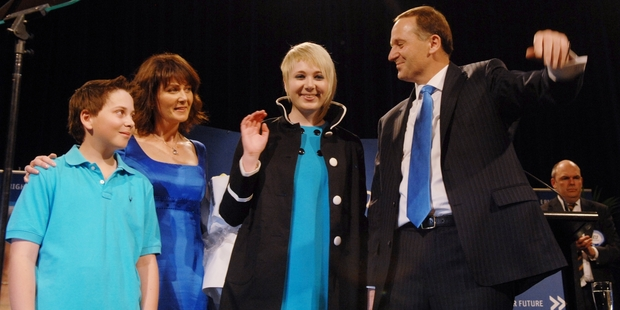 The Key family, Max, Bronagh, Stephie and John, celebrate National's victory in 2008.