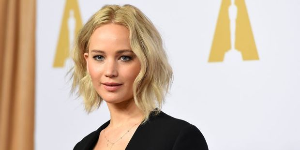 Jennifer Lawrence, nominee for best actress in a leading role for Joy, at the Oscars. Photo / AFP
