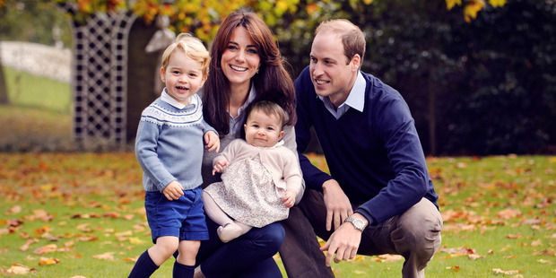 The Duke and Duchess of Cambridge with their two children, Prince George and Princess Charlotte. Photo / Supplied