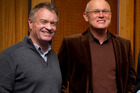 Grant Fox and good friend Martin Crowe pictured together in 2013. Photo / Natalie Slade