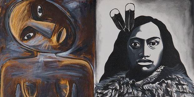 'E Kore e Hekeheke he Kaikana Rangatira' by Robyn Kahukiwa, one of NZ Post's pieces of artwork up for sale.