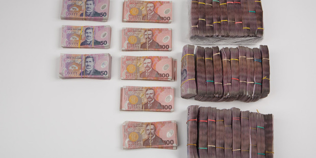 Police also seized more than a $1 million in cash. Photo / Supplied via Customs