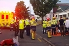 Fourteen people have been injured, eight badly, after a balcony collapsed in Dunedin during a concert by the band Six60. Video / James Gunn