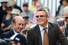 Chris Harris and Martin Crowe at the Basin Reserve in 2014. Photo / Getty