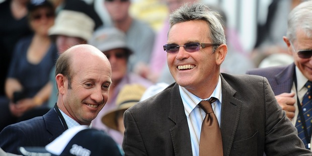 Loading Chris Harris and Martin Crowe at the Basin Reserve in 2014. Photo / Getty