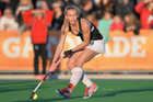 Liz Thompson during the women's hockey test between New Zealand and Argentina. Photo / Getty Images