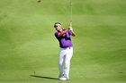 Daniel Chopra of Sweden plays a shot during practice ahead of the Ho Tram Open. Photo / Getty Images