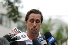 Mitchell Pearce fronts the media after his Australia Day behaviour landed him in trouble.