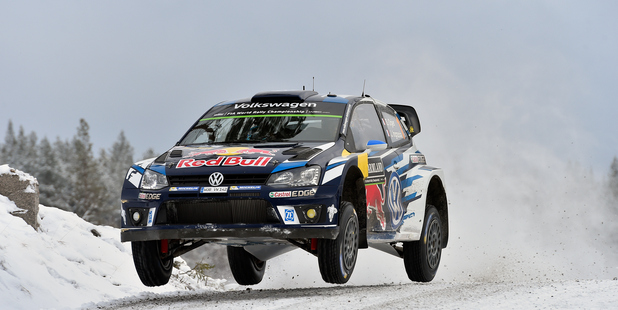 Sebastien Ogier of France at the WRC Sweden. Photo / Getty Images