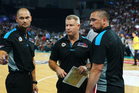 Dean Vickerman, coach of the New Zealand Breakers speaks to his team. Photo / Getty Images