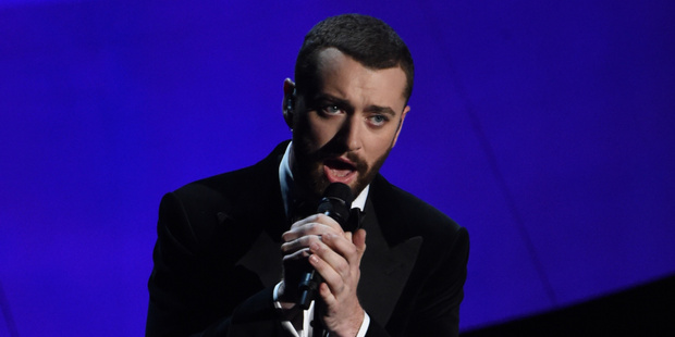 Singer Sam Smith performs on stage at the Oscars. Photo / Getty Images