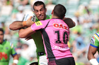 NRL match between the Canberra Raiders and the Penrith Panthers. Photo / Getty Images